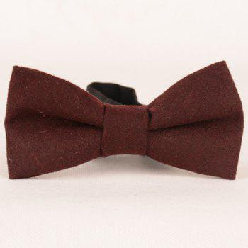 Stylish Men's Solid Color Faux Wool Bow Tie