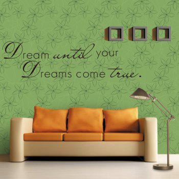 Fashion Simple Inspirational Letters Pattern Wall Sticker For Livingroom Bedroom Decoration - BLACK