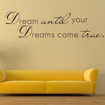 Fashion Simple Inspirational Letters Pattern Wall Sticker For Livingroom Bedroom Decoration