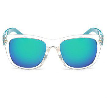 Stylish Short Stripe Shape Alloy Inlay Transparent Frame Men's Sunglasses -  TRANSPARENT