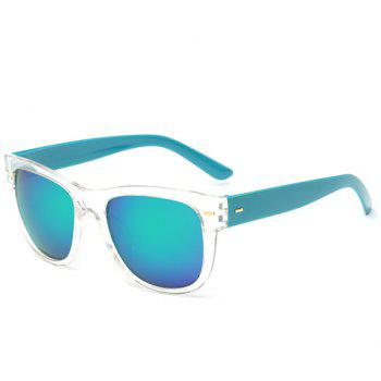 Stylish Short Stripe Shape Alloy Inlay Transparent Frame Men's Sunglasses