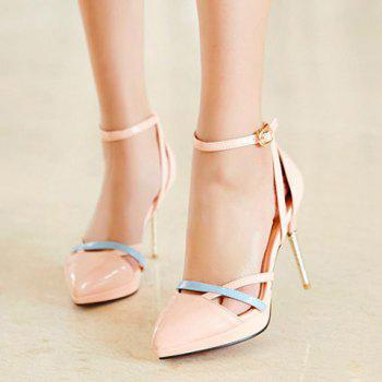 Fashionable Colour Block and Patent Leather Design Women's Pumps - 39 39