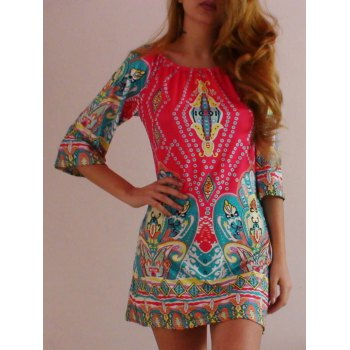 African Style Off The Shoulder Dress