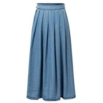 Stylish High Waist Light Blue Denim Women's Skirt