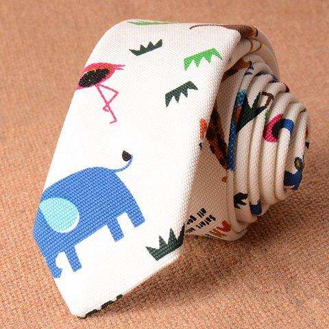 Stylish Various Animal Scrawl Pattern 5CM Width Men's Tie - OFF WHITE