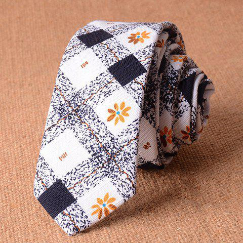 Stylish Tartan and Flower Pattern 5CM Width Men's Tie - CADETBLUE