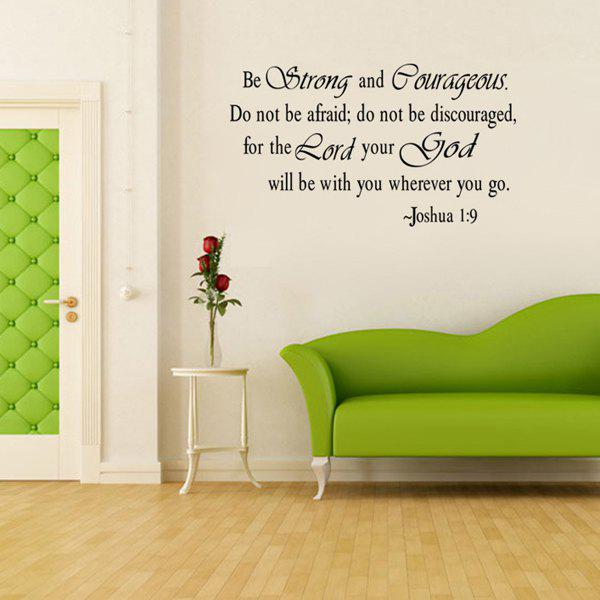 Chic Letters Pattern Wall Sticker For Livingroom Bedroom Decoration - BLACK