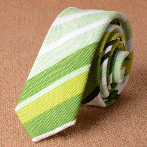 Stylish Various Green Stripe Pattern 5CM Width Men's Tie - LIGHT GREEN