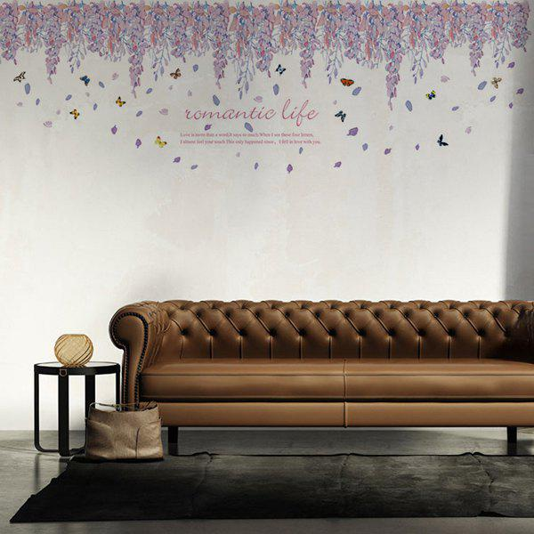 Fashion Falling Petals Pattern Wall Sticker For Livingroom Bedroom Decoration - COLORMIX