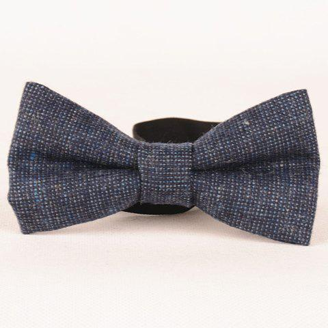 Stylish Men's Faux Wool Small Dotted Bow Tie - DEEP BLUE