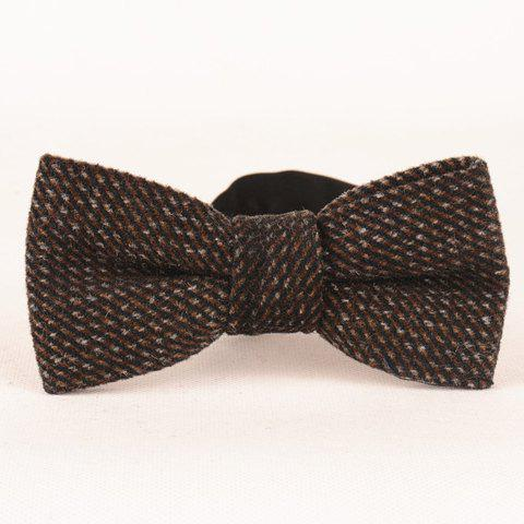 Stylish Retro Faux Wool Twill Bow Tie For Men