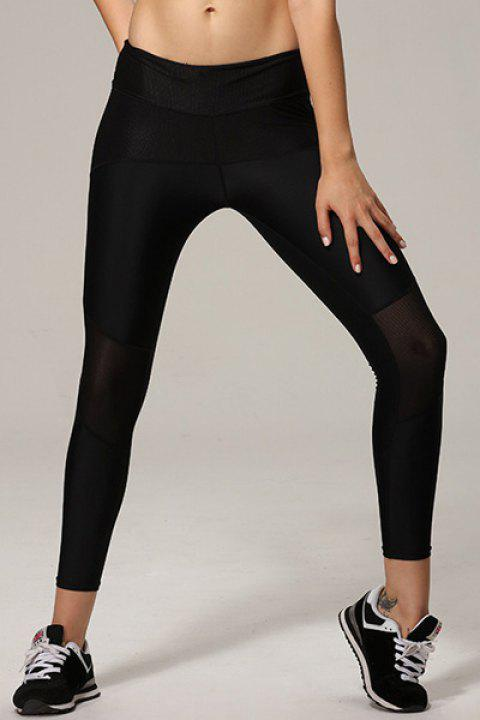 Active Stretchy High Waist Sport Pants For Women - BLACK S