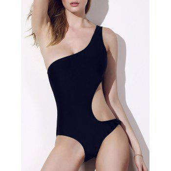 Chic Hollow Out One-Shoulder One-Piece Swimsuit For Women