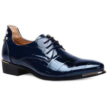 Trendy Metal and Patent Leather Design Men's Formal Shoes