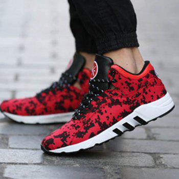 Casual Color Lace-Up and Color Matching Design Men's Athletic Shoes - 41 41