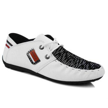 Trendy Metal and Splicing Design Men's Casual Shoes