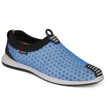Stylish Mesh and Colour Matching Design Men's Casual Shoes