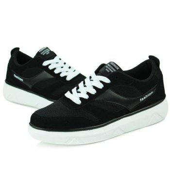 Trendy Splicing and Black Colour Design Men's Casual Shoes - BLACK 41