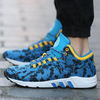 Casual Color Lace-Up and Color Matching Design Men's Athletic Shoes - 42 42
