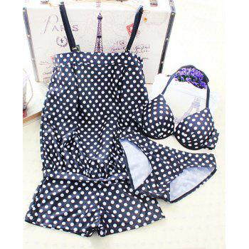 Cute Underwired Polka Dot Halter Women's Bikini Set