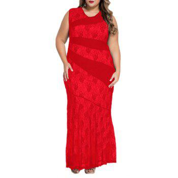 Elegant Sleeveless V Neck Lace Openwork Women's Dress