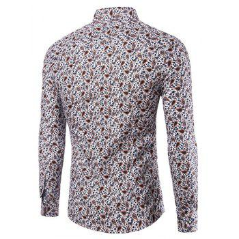 Impression Casual Turn Down Collar Shirt Pour Hommes - multicolorcolore 5XL