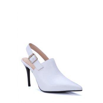 Concise Slingback and Pointed Toe Design Pumps For Women