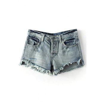 Trendy Distressed Women's Denim Cutoffs