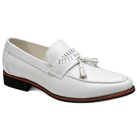 Fashionable Solid Colour and Tassels Design Men's Casual Shoes - WHITE 41