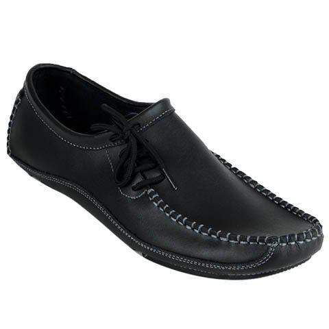 Casual Stitching and Solid Color Design Men's Loafers - BLACK 42