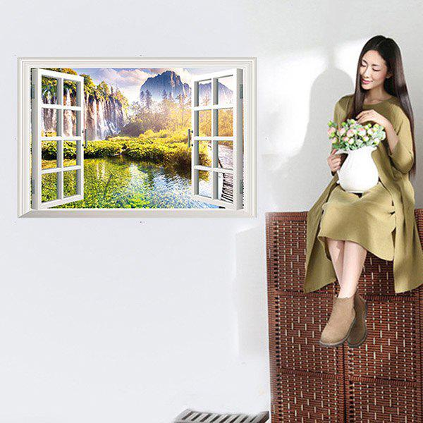 High Quality New Style 3D False Window Landscape Pattern Removeable Wall Stickers quality solid color letters pattern removeable wall stickers