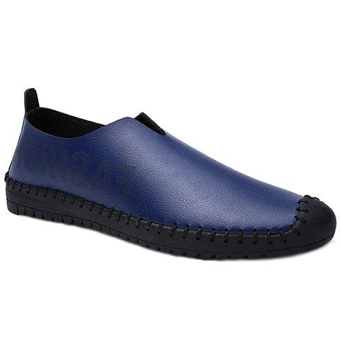 Stylish Letter and Stitching Design Men's Casual Shoes - BLUE 40