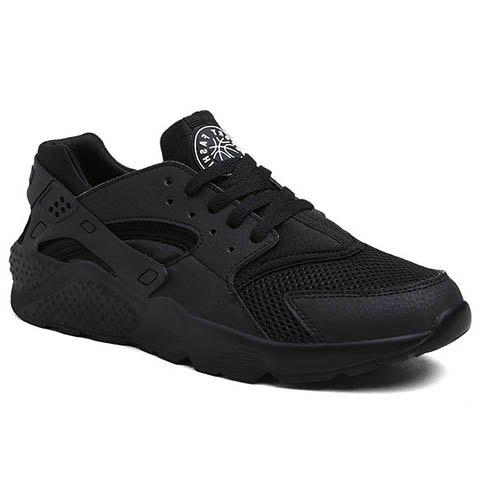 Leisure Splicing and Black Design Men's Athletic Shoes - BLACK 39