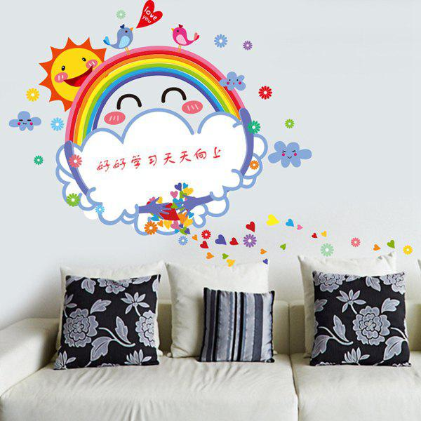 Chic Quality Cartoon Rainbow Pattern Removeable Wall Stickers - COLORMIX