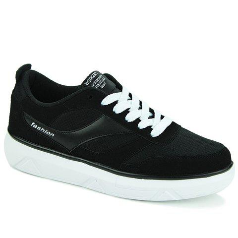 Trendy Splicing and Black Colour Design Men's Casual Shoes
