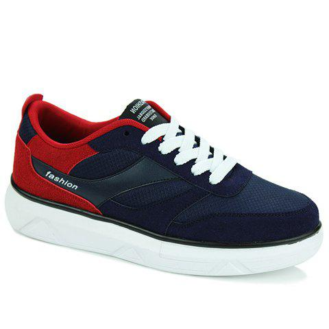Stylish Colour Matching and Splicing Design Men's Casual Shoes - BLUE/RED 39