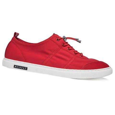 Fashionable Color Matching and Lace-Up Design Men's Casual Shoes - RED 41