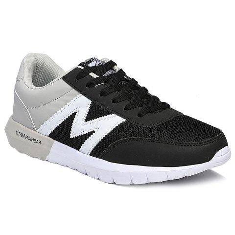 Trendy Splicing and Colour Matching Design Men's Athletic Shoes