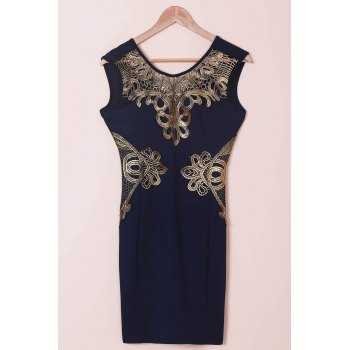 Lace Cut Out Splicing Bodycon Dress For Women