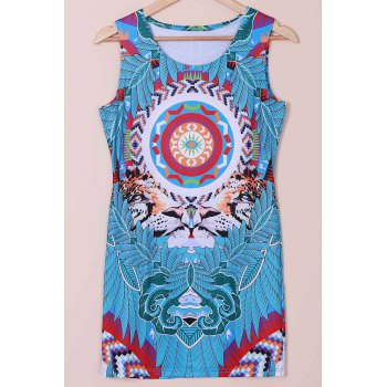 Mini Tribal Print Shift Dress