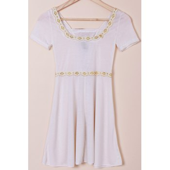 Sweet Short Sleeve High Waist Lace-Up Design T-Shirt For Women