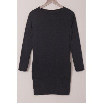 Long Sleeve Solid Color Bodycon T Shirt Dress