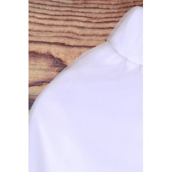 Elegant Elastic Waist White Layered Women's Voile Skirt - XL XL
