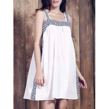 Spaghetti Strap Print Summer Dress For Women