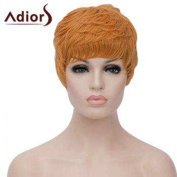 Vogue Ombre Color Adiors Hair Capless Wig Fluffy Short Curly Women's Bump Synthetic Wig