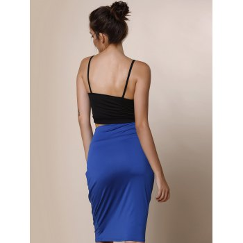 Work Style Solid Color High-Waisted Women's Midi Skirt - M M