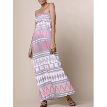 Sexy Zigzag Strapless Sleeveless Dress For Women
