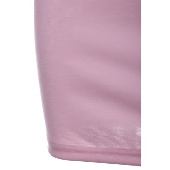 Sexy Women's Spaghetti Strap Pink Hollow Dress - PINK S