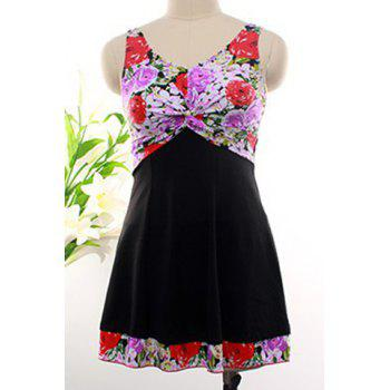 Floral Skirted Swimwear Swim Dress