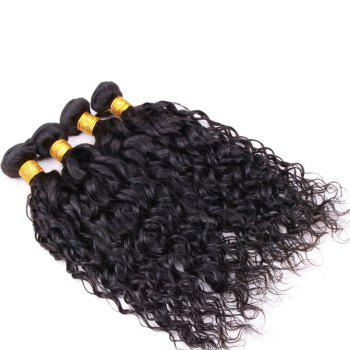Fluffy Curly Black 6A Virgin Hair 1 Pcs/Lot Brazilian Human Hair Weft For Women